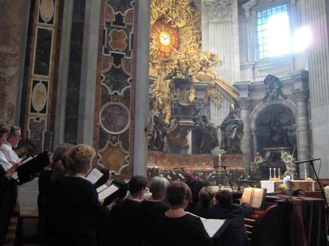 Singing in St Peters compressed